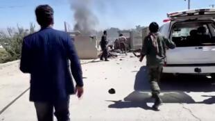 На месте взрыва на митинге президента Ашрафа Гани, провинция Парван, 17 сентября 2019 г.