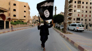 Membre de l'Etat islamique à Raqqa en Syrie (photo d'illustration datée de 2014).