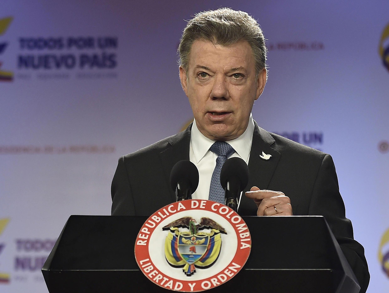 """""""Los temas bilaterales entre Nicaragua y Colombia no van a seguir sujetos a la decisión de un tercero"""", argumentó el mandatario colombiano Juan Manuel Santos."""