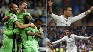 Wachezaji wa klabu ya Sportin Lisbon na Christiano Ronaldo baada ya kufunga bao Septemba 14 2016