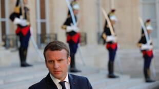 Para que el presidente Macron pueda aplicar su programa sin necesidad de formar coaliciones, su partido tiene que obtener al menos 289 escaños en el Parlamento. Este 21 de mayo de 2017.