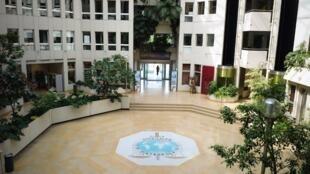 Le siège d'Interpol à Lyon (France).