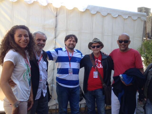 A editora Paula Anacaona e os escritores Raimundo Carrero, Marcelino Freire, Edyr Augusto e Paulo Lins em Saint-Malo .