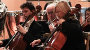 Répétition de l'Orchestre pour la Paix, le 3 décembre 2014 à La Haye.