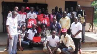 Membres du Club RFI de Bangui Fononon.