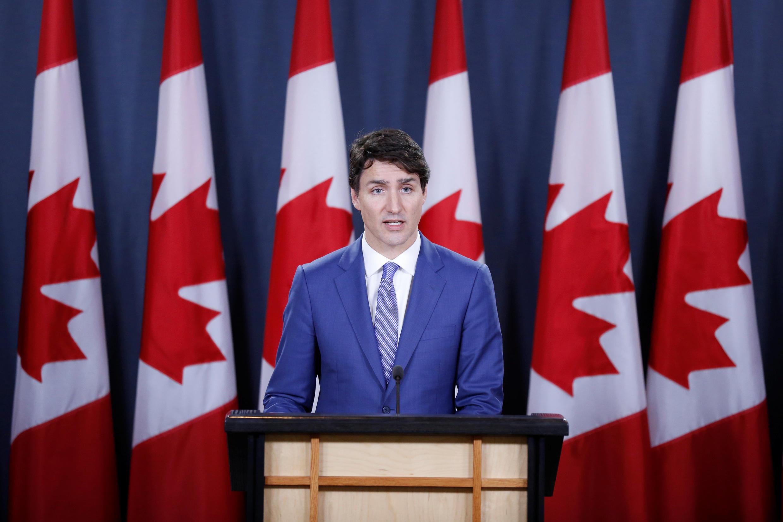 加拿大總理小杜魯4月15日在多倫多