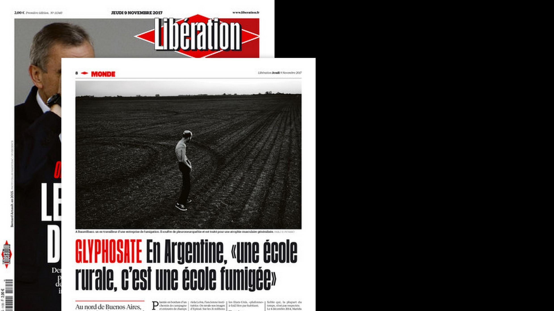 Argentina utiliza mais de 250 milhões de litros de glifosato por ano em suas plantações, diz Libération desta quinta-feira (9).