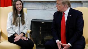 O presidente Donald Trump recebeu nesta quarta-feira na Casa Branca Fabiana Rosales, a mulher de Juan Guaidó, autoproclamado presidente interino da Venezuela.