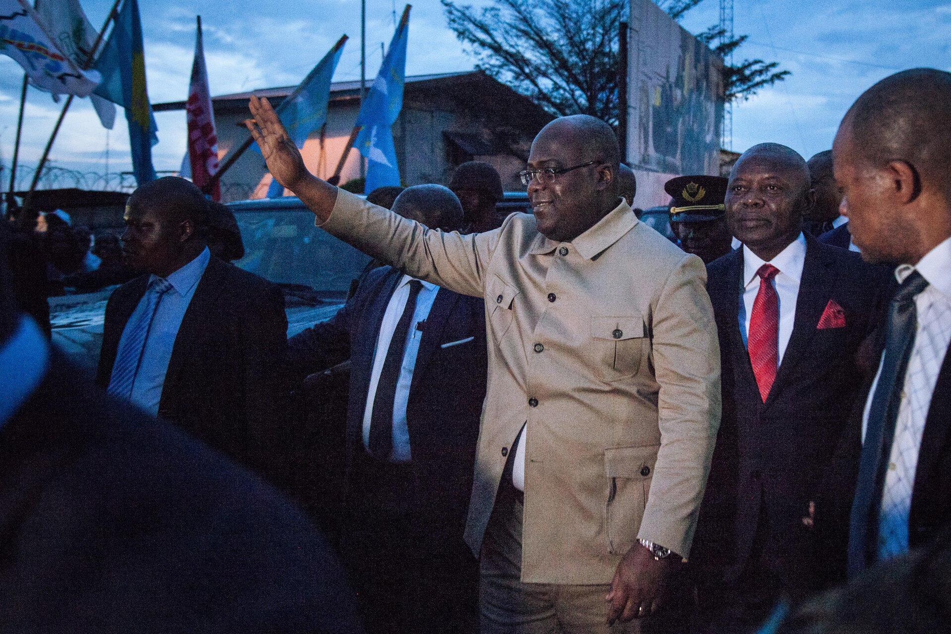 Rais wa DRC Félix Tshisekedi ziarani Goma, Kivu Kaskazini, Aprili 14, 209.