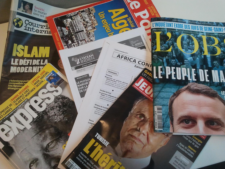 Primeiras páginas dos jornais franceses de 18 de novembro de 2017