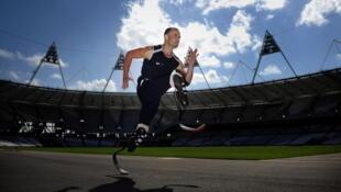 O atleta Sul Africano Oscar Pistorius.