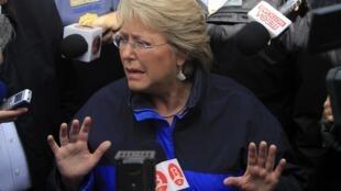 A presidente do Chile, Michelle Bachelet.