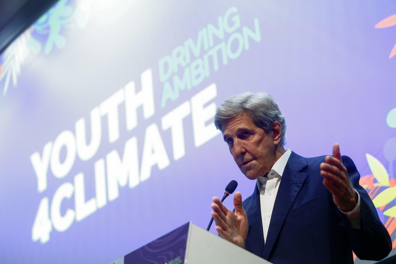 美國總統氣候變化事務特使約翰·克里參加氣候變化會議