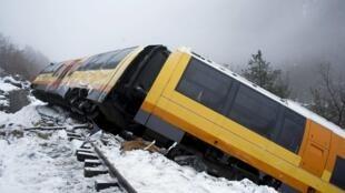 The Train des Pignes after the accident