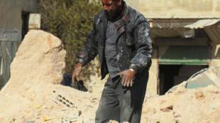 Scène de guerre à Idleb, en Syrie, le 20 novembre 2016 (illustration).