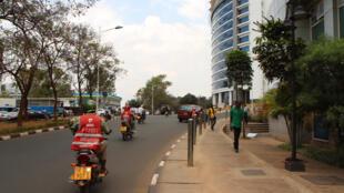 Mjini kati Kigali, Rwanda