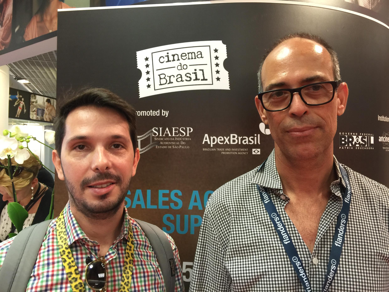 Daniel van Hoogstraten, produtor, e Ailton Franco, produtor e diretor de festival