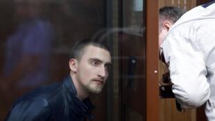 Павел Устинов в суде 16 сентября