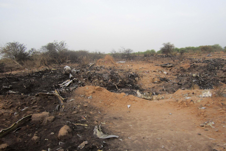 Le lieu du crash du vol AH5017 d'Air Algérie, le jeudi 24 juillet 2014.