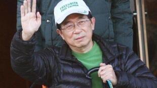 图为前台湾总统陈水扁