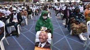 Rassemblement des militants du RHDP, le 15 juillet à Abidjan, pour rendre un dernier hommage à l'un des principaux cadres du parti.