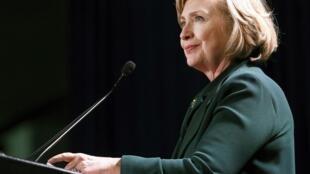 La démocrate Hillary Clinton, en campagne pour les élections de mi-mandat à la Nouvelle Orléans, le 1er novembre 2014.