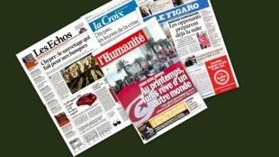 Capa dos jornais franceses, La Croix, Le Figaro, Les Echos e L'Humanité desta terça-feira, 26