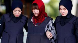 Đoàn Thị Hương (G) là nghi phạm duy nhất trong vụ ám sát anh trai lãnh đạo BTT, ông Kim Jong Nam.