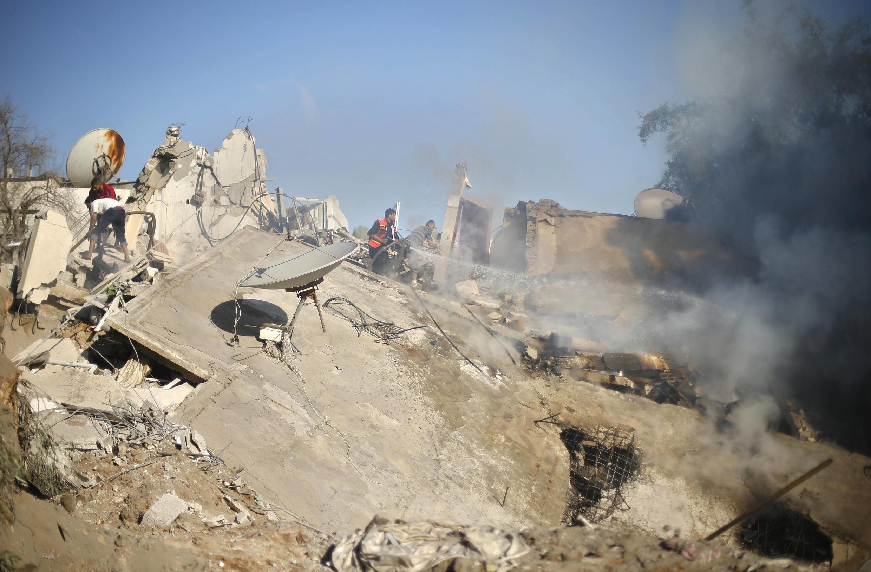 اسرائیل مواضع حماس را در نوار غزه بمباران کرد