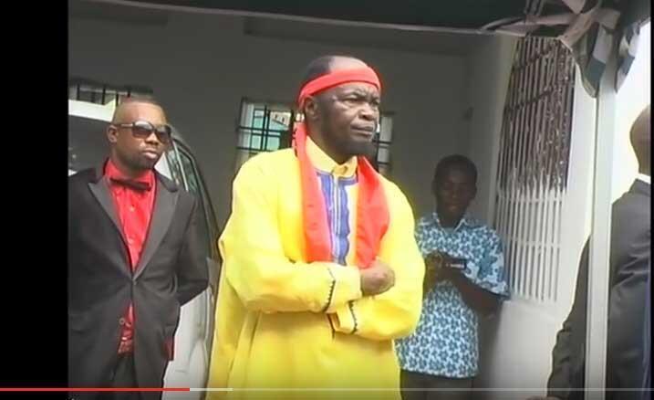 Muanda Nsemi, Kiongozi wa kiroho wa dhehebu la Bundu dia Kongo, wakati wa Misa (BDMCANADA, Julai 2016).