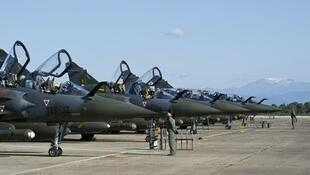 Mirage 2000 jets on a base in Corsica