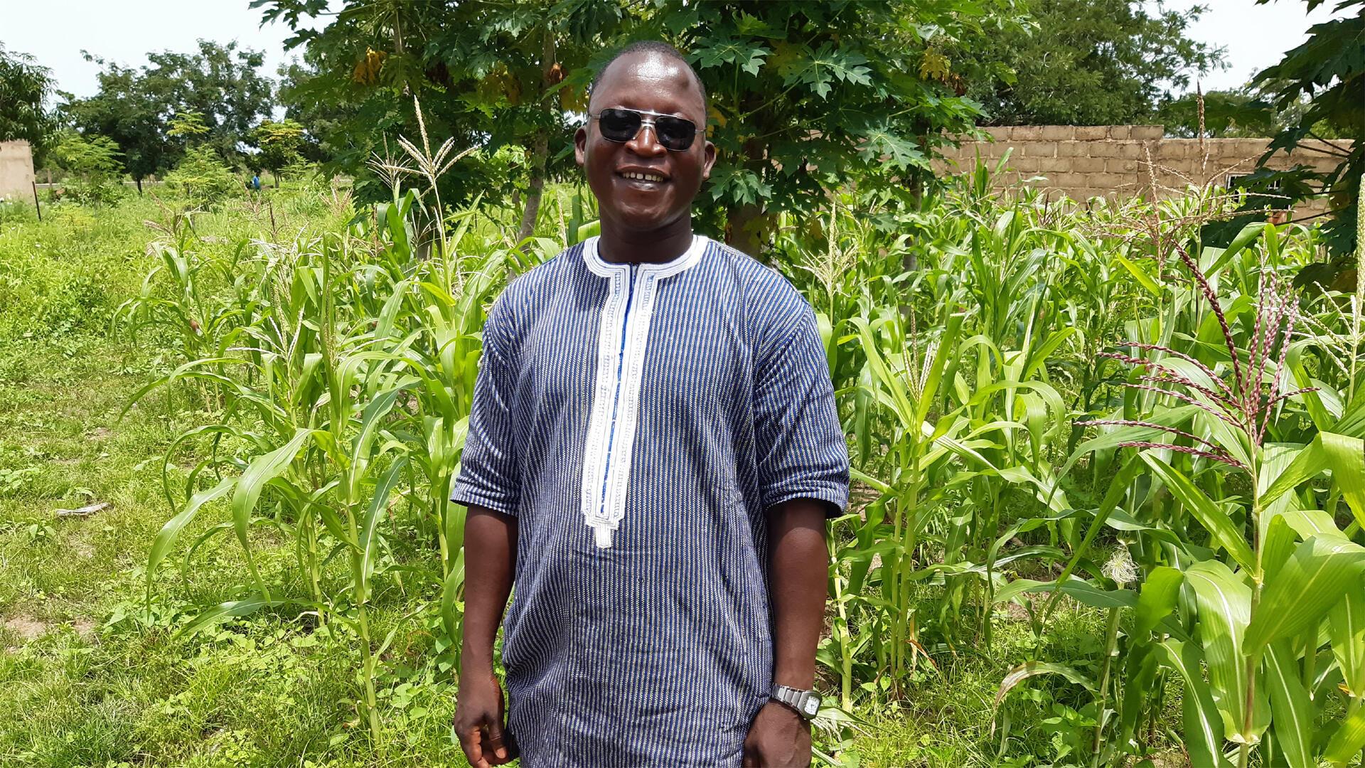 André Tindano, docteur en Aménagement territorial et développement rural, fondateur du Centre africain de Recherche et de Formation en Synécoculture.