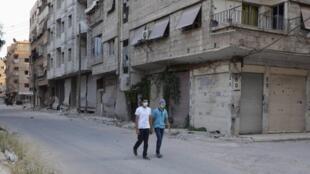 Dans une banlieue de Damas, le 21 août 2013.
