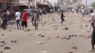 Image d'une vidéo des violences du 18 octobre à Lomé.