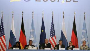 O quarteto para a paz no Oriente Médio.