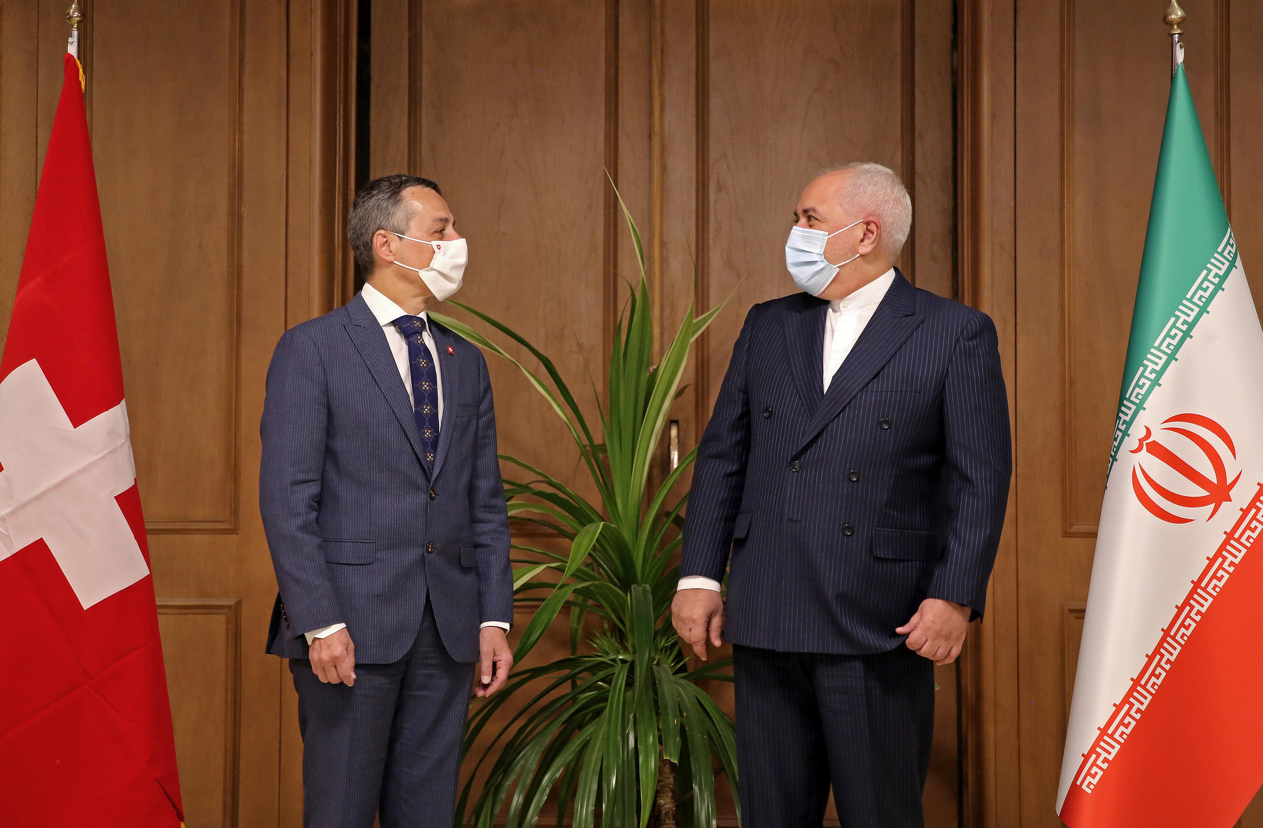 Iran's Foreign Minister Mohammad Javad Zarif met his Swiss counterpart Ignazio Cassis in Tehran for talks