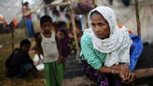 Des réfugiés Rohingyas qui ont fuit les dernières violences, le 1er novembre 2012.