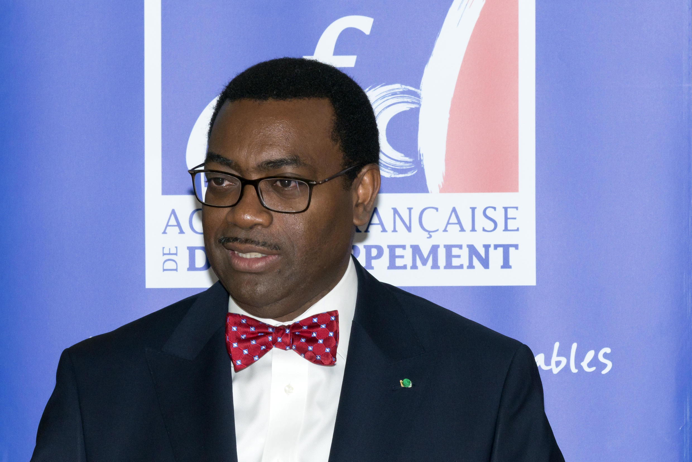 Akinwumi Adesina, le nouveau président de la Banque africaine de développement, était de passage à Paris le 20 novembre pour signer une convention avec l'Agence française de développement.