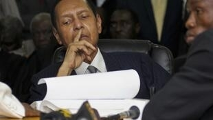 Jean-Claude Duvalier en el Tribunal de Puerto Príncipe, este 28 de febrero de 2013.