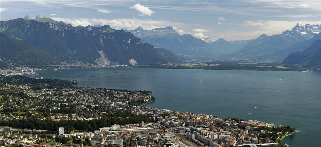 Montreux et le Lac de Genève, dans le canton de Vaud.
