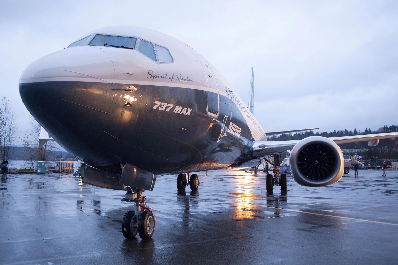 Um Boeing 737 MAX 8 no aerorporto de Renton, nos Estados Unidos.