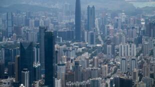 中國深圳:從40年前的一座漁村上建起。