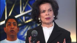 La defensora de derechos humanos Bianca Jagger denuncia en Escala en París la represión de aquellos que se oponen al presidente Ortega.