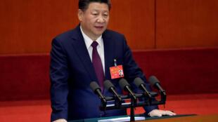 Chủ tịch Trung Quốc Tập Cận Bình phát biểu trong buổi khai mạc Đại hội lần thứ 19 của ĐCSTQ. Ảnh tại Bắc Kinh ngày 18/10/2017.
