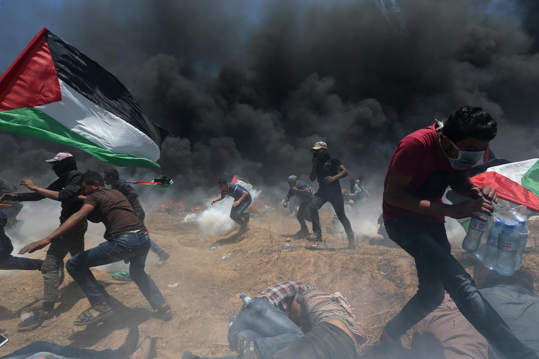 Isra'ila ta kashe Falasdinawa sama da 50 da ke zanga-zangar lumana a Gaza