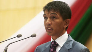 The head of Madagascar's interim government Andry Rajoelina