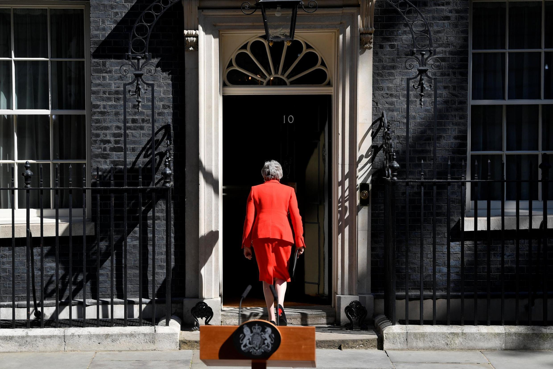Theresa May após o anúncio de sua demissão no dia 24 de maio de 2019.