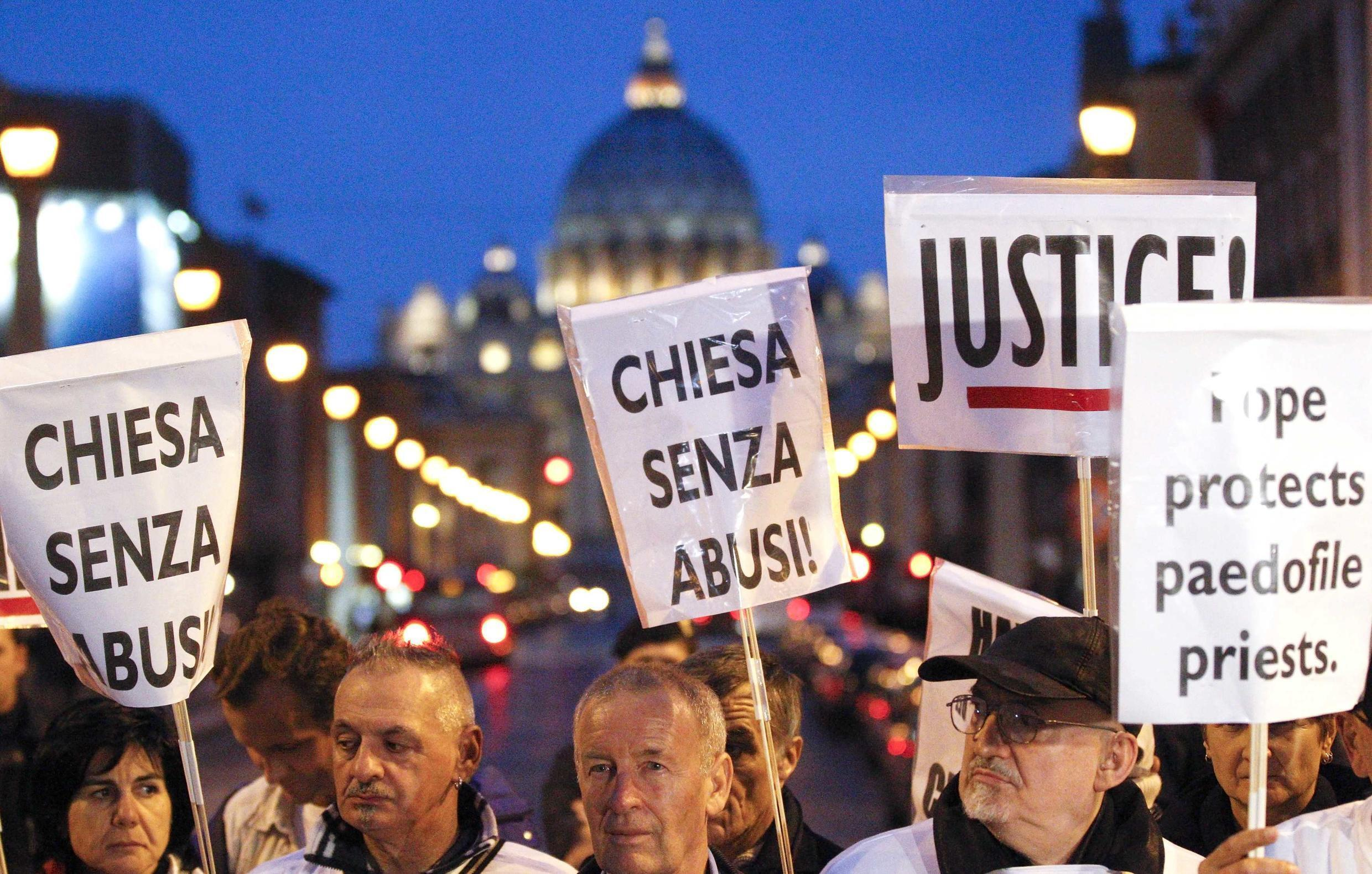 Protest against paedophiliac priests at the Vatican, 31 October 2010