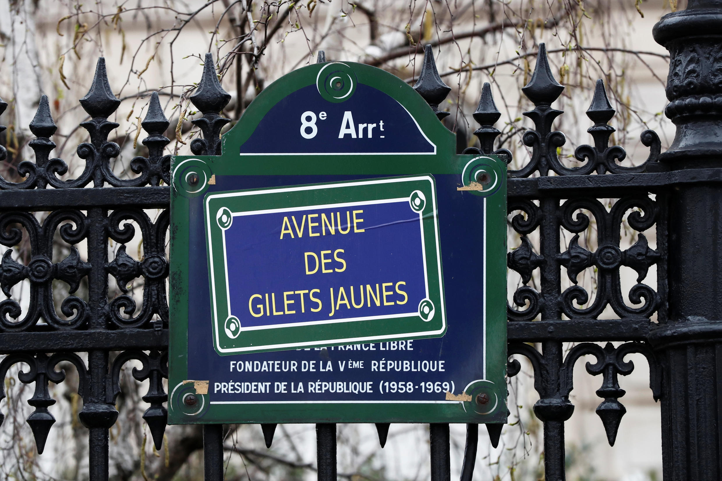 Around 5,000 demonstrators took to the streets in Paris during the 19th round of gilet jaunes protests.