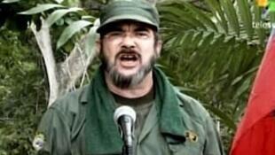 """Rodrigo Londoño Echeverry, alias """"Timochenko"""", miembro de las FARC."""